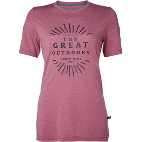 North Bend Vertical Tee Women pink ling